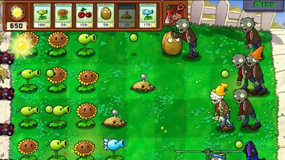 plants vs zombies zaidimas